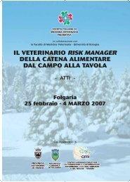 il veterinario risk manager della catena alimentare dal ... - SIVeMP