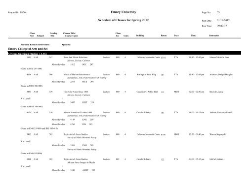 Emory Academic Calendar Spring 2022.Emory University Schedule Of Classes For Spring Emory Registrar