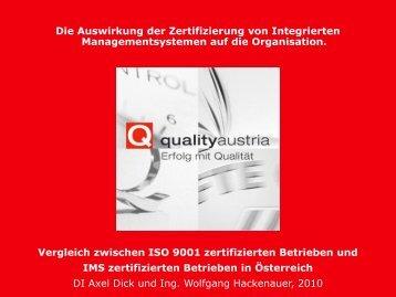 Die Auswirkung der - Quality Austria