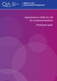 Approaches to Skills for Life Participant Pack - Excellence Gateway