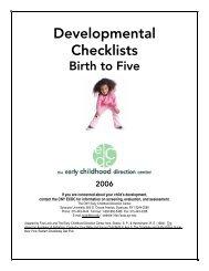 Developmental Checklists - FPG Child Development Institute