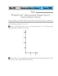 Worksheet #2 - Instruction.greenriver.edu