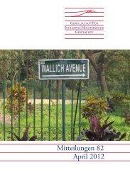 Mitteilungen 82 April 2012 - Geschichte in Schleswig-Holstein