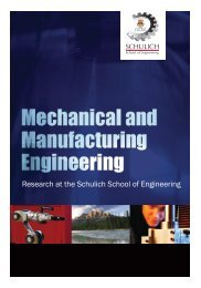 Department of Mechanical and Manufacturing Engineering