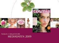 Mediadaten Cosmia 2009