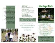 Heritage Park History in Bloom Brochure - Munster Historical Society