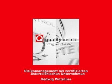 Risikomanagement wird als (sehr) wichtig angesehen - Quality Austria