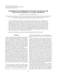 environmental sex determination in the genus equisetum