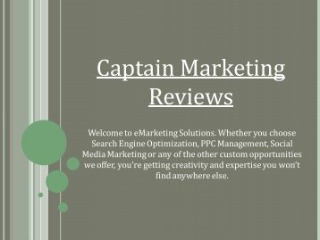 Captain Marketing Reviews