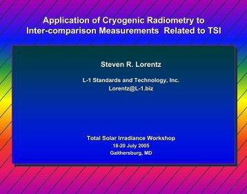 Applications of Cryogenic Radiometry - Acrim.com