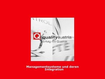 Prozessorientiertes Integrationsmodell - Quality Austria