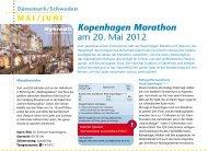 Kopenhagen Marathon am 20. Mai 2012 Stockholm Marathon am ...