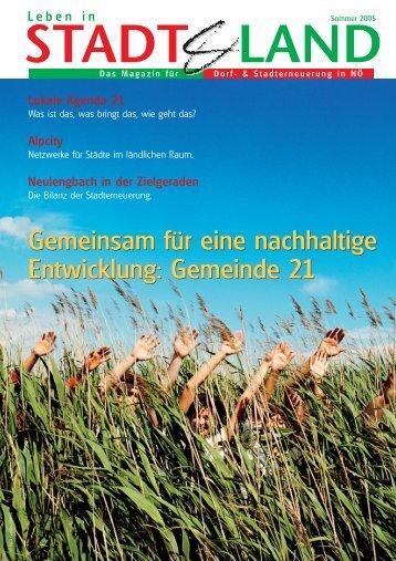 Gemeinsam für eine nachhaltige Entwicklung: Gemeinde 21 ...
