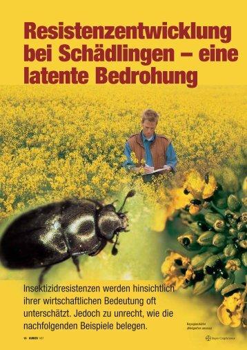 Resistenzentwicklung bei Schädlingen - Bayer CropScience