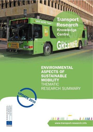 Environmental Aspects - Transport Research & Innovation Portal