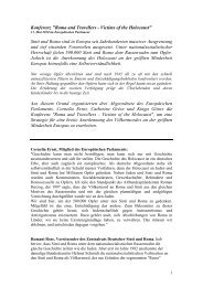 """Konferenz """"Roma and Travellers – Victims of the ... - Cornelia Ernst"""