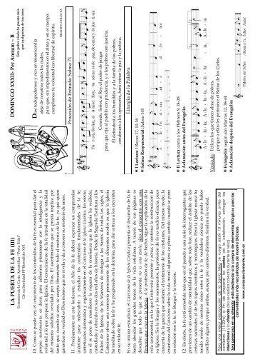 LA PUE R T A DE LA FE (III) - coro san clemente i