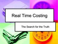 Real Time Costing - PIMA