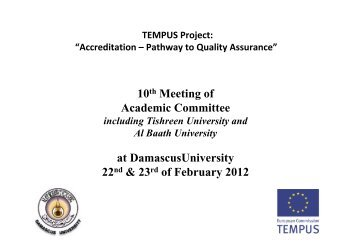 Rieke - Project Outlook - Tempus Accreditation