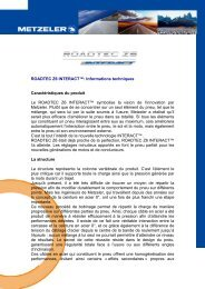 ROADTEC Z6 INTERACT™: Informations techniques ...
