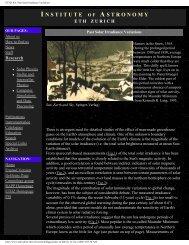 ETHZ IfA: Past Solar Irradiance Variations - Acrim.com