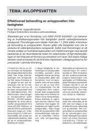 Effektiverad behandling av avloppsvatten från fastigheter - Slf