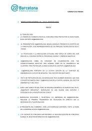 newsletter número 18 – julio / agosto 2007 índice - 22@ Barcelona