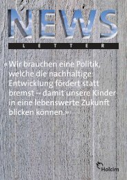 Newsletter 1 / 2009 (PDF-Datei, 581 KB) - Holcim Schweiz