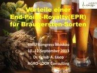 Vorteile einer End-Point-Royalty(EPR) für die Landwirtschaft