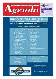 Speciale Agenda della Uilcom Roma e Lazio - ondeweb.net