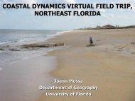 COASTAL DYNAMICS VIRTUAL FIELD TRIP, NORTHEAST FLORIDA