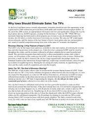 Why Iowa Should Eliminate Sales Tax TIFs - Iowa Fiscal Partnership