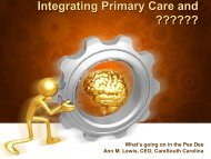 Integrating Primary Care and ??????