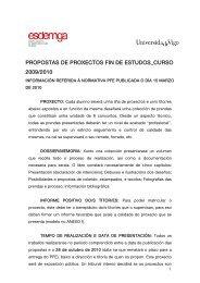 propostas de proxectos fin de carreira curso 2007/2008 - Esdemga