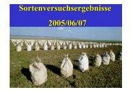 Sortenversuchsergebnisse 2005/06/07