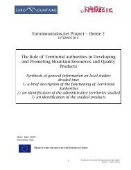 Theme 2: Synthesis of general information on local studies