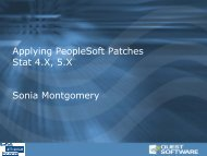 Applying PeopleSoft Patches Stat 4.X, 5.X Sonia Montgomery