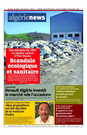 Fr-16-04-2013 - Algérie news quotidien national d'information