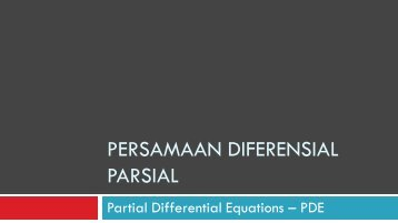 MT Persamaan Diferensial Parsial (PDE) - istiarto