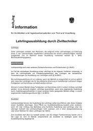 information - Kammer der Architekten und Ingenieurkonsulenten für ...