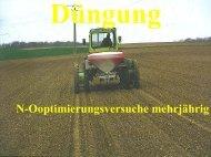 N-Optimierungsversuche FRANKEN 2000/2001/2002 Mittel aus 12 ...