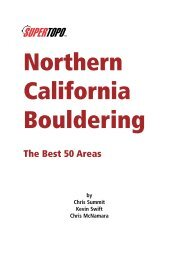 Northern California Bouldering - SuperTopo