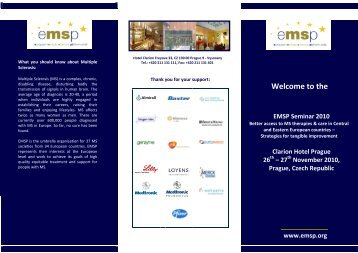 the EMSP Seminar 2010 - European Multiple Sclerosis Platform