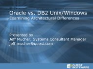 Oracle vs. DB2 Unix/Windows - Examining ... - Quest Software