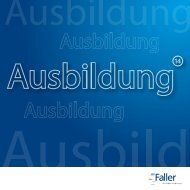 Ausbildungsbroschüre - August Faller KG