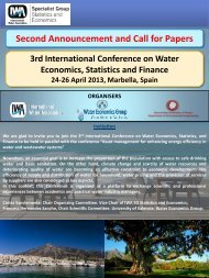 Second Announcement and Call for Papers - IWA