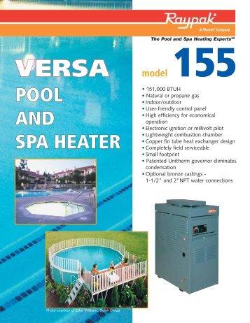 VERSA-155 Pool and Spa Heater