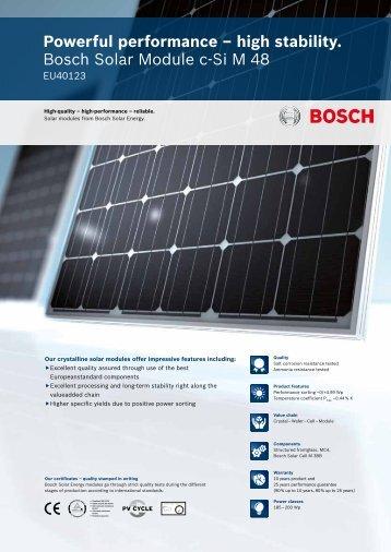 Data sheet English - Bosch Solar Energy AG