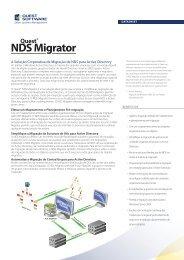 A Solução Corporativa de Migração de NDS para ... - Quest Software