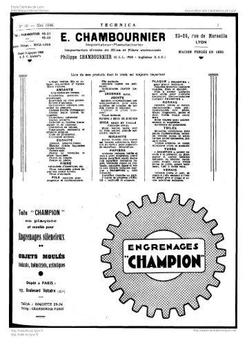 Revue Technica, année 1936, numéro 39 - Histoire de l'École ...